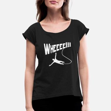 Bungee Jumping Bungee Jumping - Women's Rolled Sleeve T-Shirt