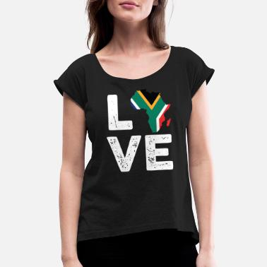 Cape Town Cape Town Love - Women's Rolled Sleeve T-Shirt