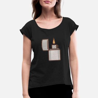 Lighter Lighter - Women's Rolled Sleeve T-Shirt