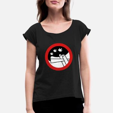 Hilarious roadsign (x) - Women's Rolled Sleeve T-Shirt