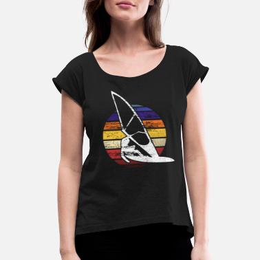 Sea Windsurfer - Women's Rolled Sleeve T-Shirt