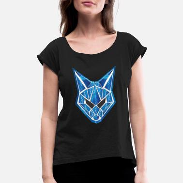 ELECTRIC WOLF - Women's Rolled Sleeve T-Shirt