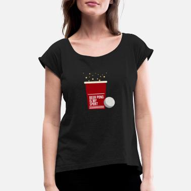 Drinking Games Drinking game drinking beer - Women's Rolled Sleeve T-Shirt