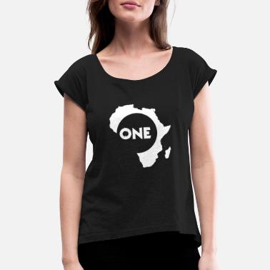 American Motors Art Africa - Africa - Women's Roll Cuff T-Shirt