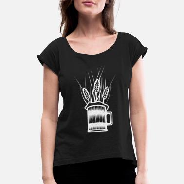 Wheat Beer wheat beer - Women's Rolled Sleeve T-Shirt
