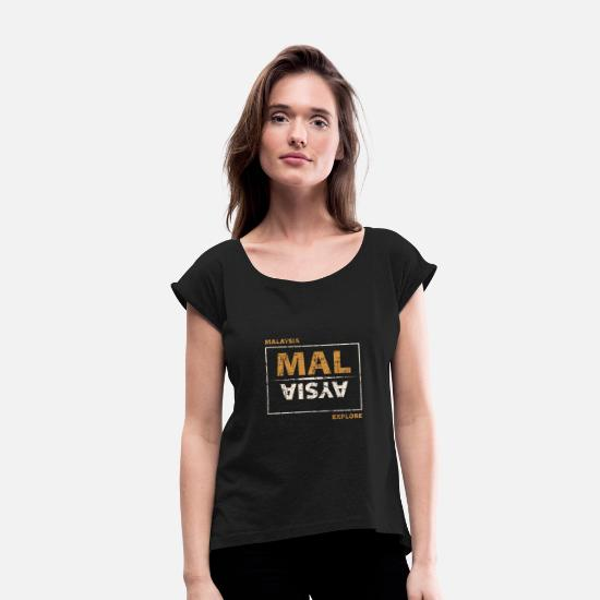Birthday T-Shirts - Malaysia - Women's Rolled Sleeve T-Shirt black
