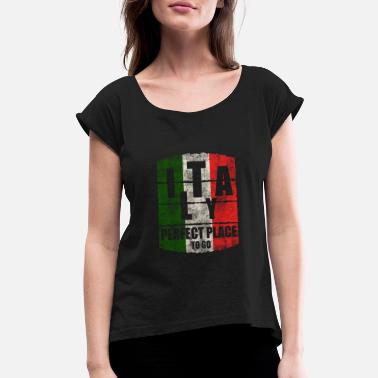 Italy Italy - Women's Rolled Sleeve T-Shirt