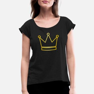 Gold King Crown Crown Gold - Women's Rolled Sleeve T-Shirt