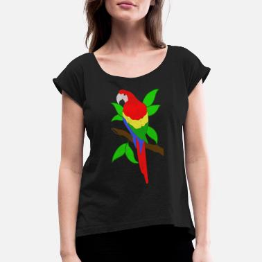 Ara Ara Parrot - Women's Rolled Sleeve T-Shirt