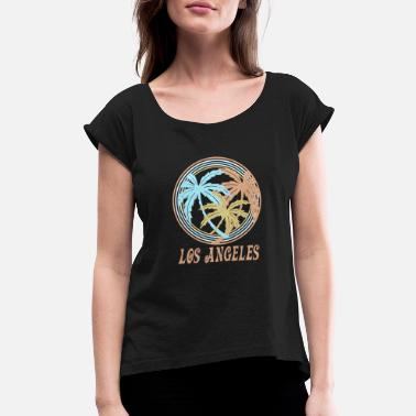 Los Angeles Los Angeles - Women's Rolled Sleeve T-Shirt