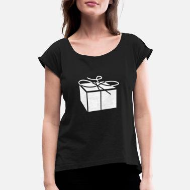 Unwrapping Unwrapped Gift - Women's Rolled Sleeve T-Shirt