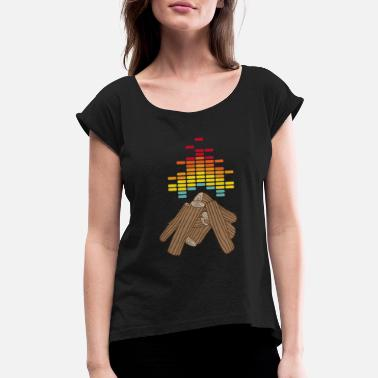 Bonfires BonFire - Women's Roll Cuff T-Shirt