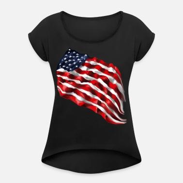 548b2a2c3 Bold Flag Women s V-Neck T-Shirt