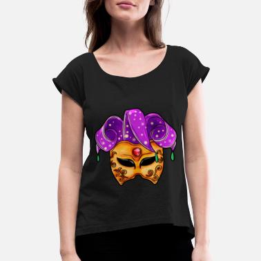 Carneval carneval Mask - Women's Rolled Sleeve T-Shirt
