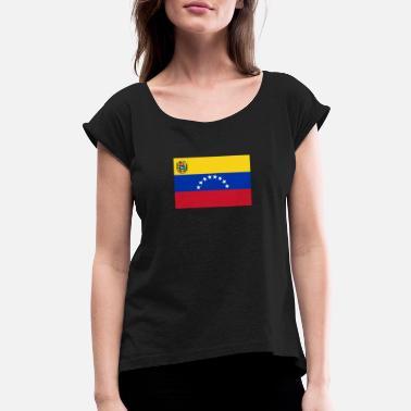e7918125 National Flag Of Venezuela - Women's Rolled Sleeve T-Shirt. Women's  Rolled ...