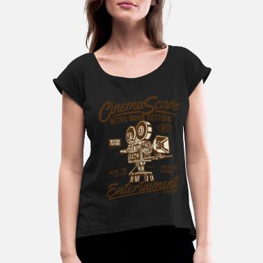 Cinema Cinema Scope2 - Women's Rolled Sleeve T-Shirt