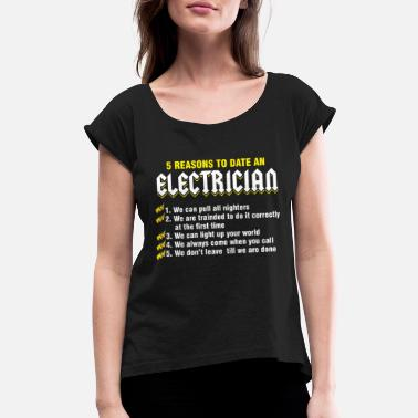 Electricity Repairman Electricity Tradesman Electric - Women's Rolled Sleeve T-Shirt