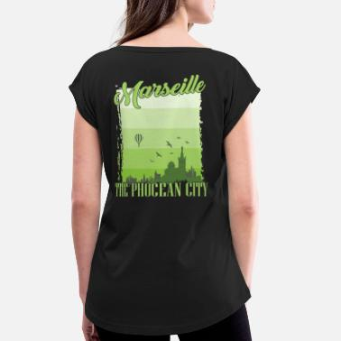Reminder Marseille France french gift holiday - Women's Rolled Sleeve T-Shirt