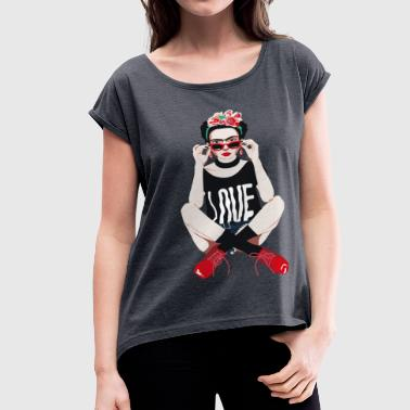 Rebel Frida - Women's Roll Cuff T-Shirt
