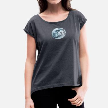 Trabant 2 the moon - Women's Roll Cuff T-Shirt