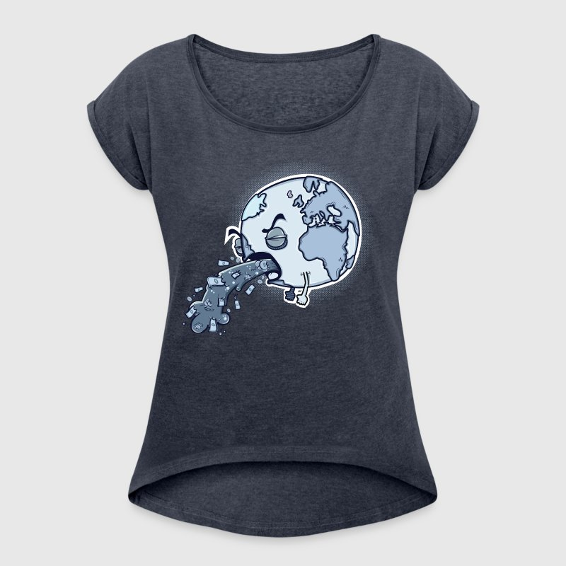 Sick and Sad Planet - Women's Roll Cuff T-Shirt
