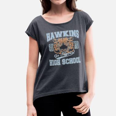 These Go To Eleven Stranger Things Tee Go Tigers - Women's Roll Cuff T-Shirt