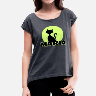First Name Maria first name - Women's Roll Cuff T-Shirt
