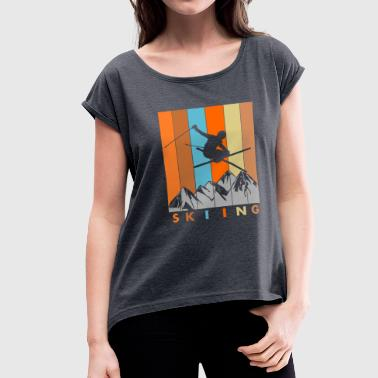 Skier - Women's Roll Cuff T-Shirt
