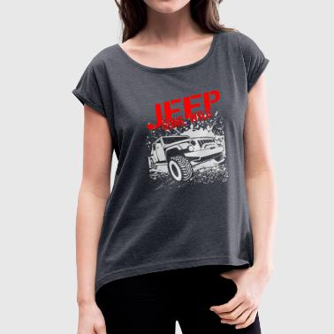 Jeep Gone Wild 03 - Women's Roll Cuff T-Shirt