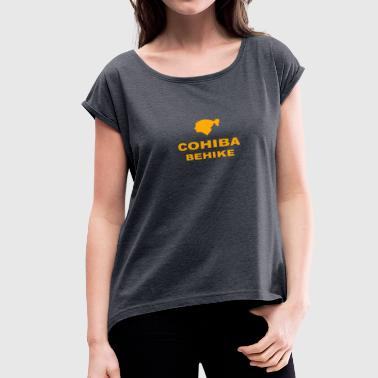 Behike Cohiba Cuban Cuba Cigar Smoke - Women's Roll Cuff T-Shirt