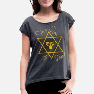Judaism Judaism The Star of David - Women's Rolled Sleeve T-Shirt