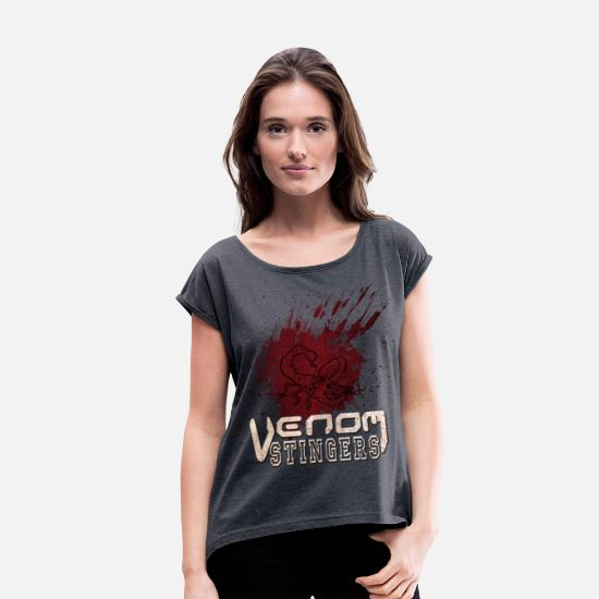 Venom T-Shirts - Venom Stingers - Women's Rolled Sleeve T-Shirt navy heather