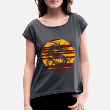 Guilin China Chinese Dragon Design Country Gift Idea - Women's Rolled Sleeve T-Shirt
