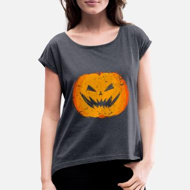Soul Sarcastic Halloween Pumpkin Cute Gift Present idea - Women's Rolled Sleeve T-Shirt