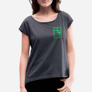 Rectangle Rectangle - Women's Rolled Sleeve T-Shirt