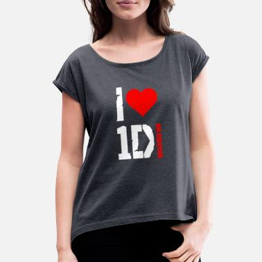 Direction I Love One Direction - Women's Rolled Sleeve T-Shirt