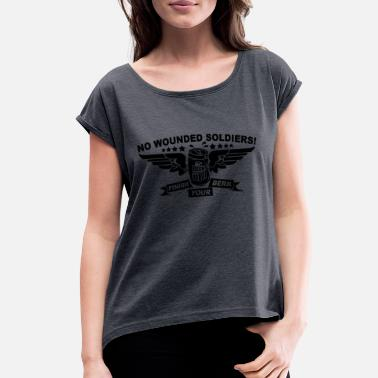 Wound No Wounded - Women's Roll Cuff T-Shirt