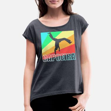 Mixed Martial Ar Capoeira Brazil Martial Art gift - Women's Rolled Sleeve T-Shirt