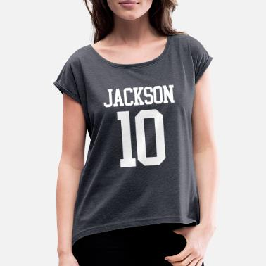 Jersey Number Jackson Jersey Number - Women's Rolled Sleeve T-Shirt