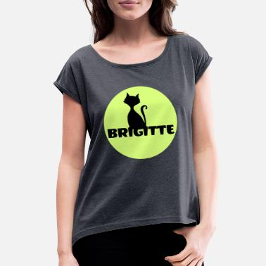 First Name Brigitte name first name - Women's Rolled Sleeve T-Shirt