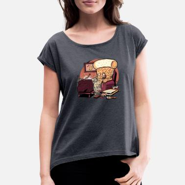 Carnivore CARNIVOROUS PIZZA - Women's Rolled Sleeve T-Shirt