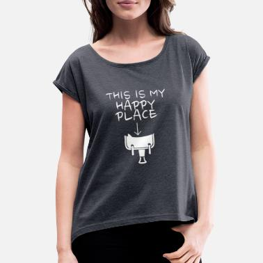 Western Riding Happy Place Western Riding - Women's Rolled Sleeve T-Shirt