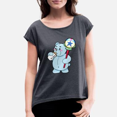 8cfd9163 teddy bear baby bottle rattle - Women's Rolled Sleeve T-Shirt. Women's  Rolled Sleeve ...