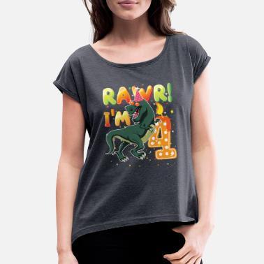 Dinosaur Birthday Shirt 4th Years Old Rawr I39m 4