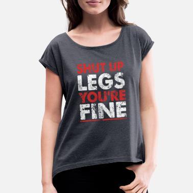 funny leg day shirt racerback gym tank with sayings funny leg day workout shirt Shut up legs you/'re fine gym shirt