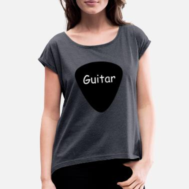 Acoustic Guitar Acoustic Guitar - Women's Rolled Sleeve T-Shirt