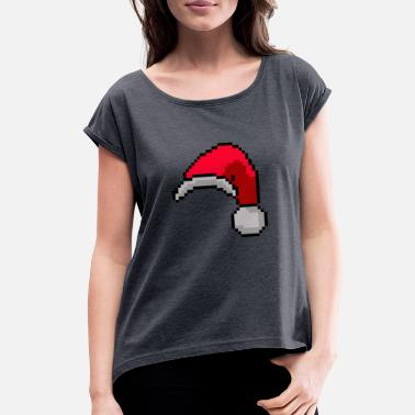 Sledge Christmas hat - Women's Roll Cuff T-Shirt