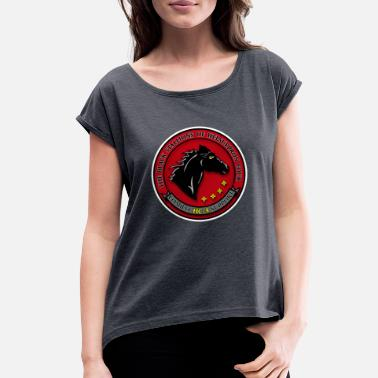 HC 4 Black Stallions Modified - Women's Rolled Sleeve T-Shirt