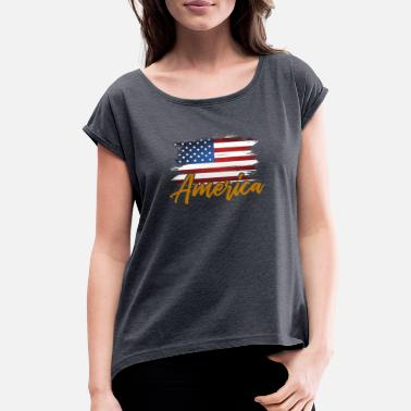Hollywood USA New York - Women's Rolled Sleeve T-Shirt