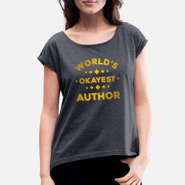 Library author - Women's Rolled Sleeve T-Shirt